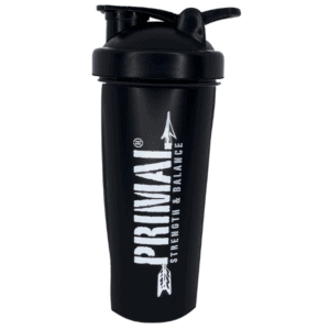 black shaker bottle