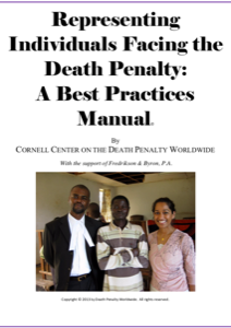 Front cover of Representing Individuals Facing the Death Penalty: A Best Practices Manual.