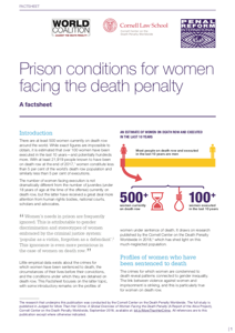 Prison conditions for women facing the death penalty: a factsheet