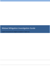 Front cover of Malawi Mitigation Investigation Guide.