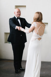New Orleans wedding first look