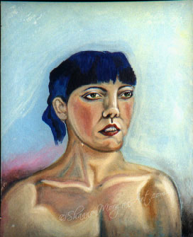 096 Woman with Blue Hair