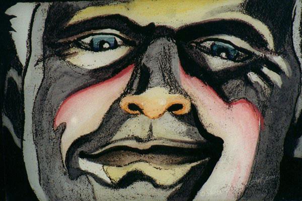 008b Bladerunner, Face - Roy Glaring