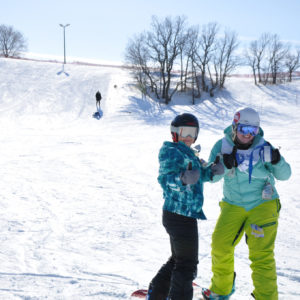 Parent and Teen Snowboard Lesson