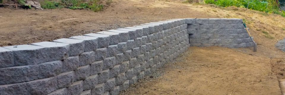 Building new hardscapes one wall at a time.