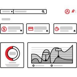 Graphs are arranged in an illustrated dashboard
