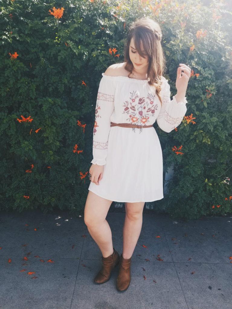 dress, flowers, target, brunette, boots, lauren conrad, spring, summer, lookbook