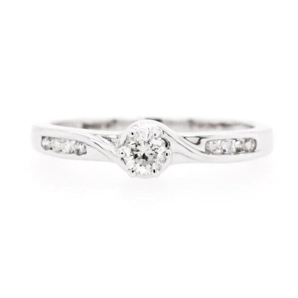 Petite Channel Bypass Engagement Ring 0.23ct