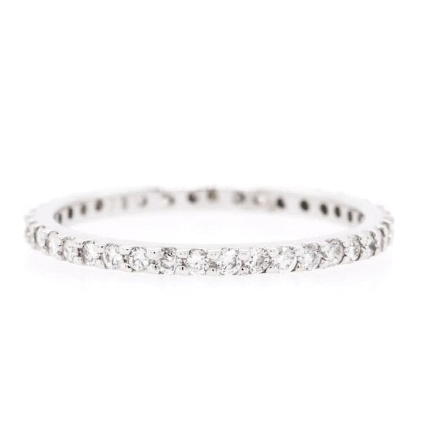 18K White Gold Lovely Diamond Band 0.50Ct