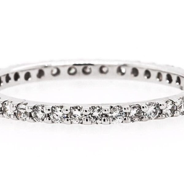 18K White Gold Diamond Band 0.29 Ct