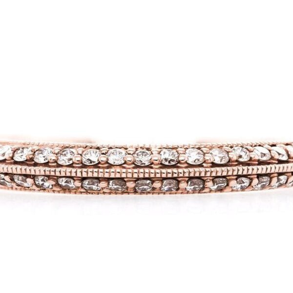 Vintage Micro-Pave Wedding Band 14k Rose Gold