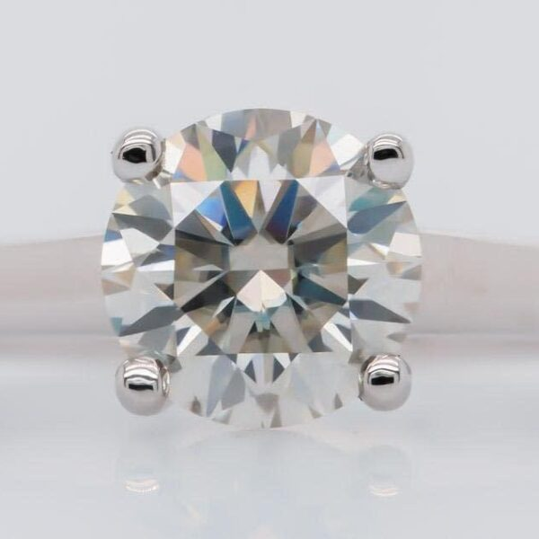 Round Cut Diamond Solitaire Engagement Ring 2.0ct