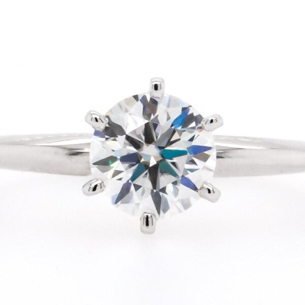 Round White Solitaire Engagement Ring 1.00 Ct