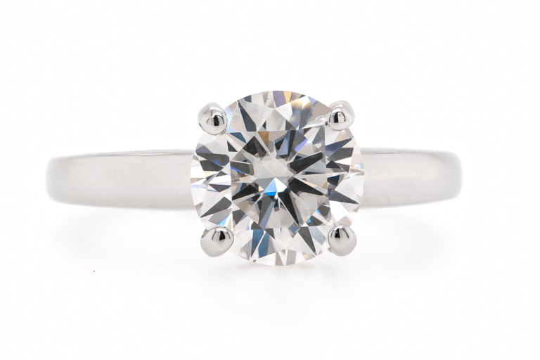 Solitaire Round Cut Diamond Engagement Ring 2.0ct