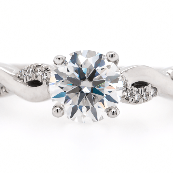 Multi-Twisted Round Engagement Ring 1.25ct