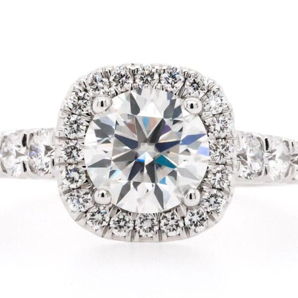 Halo Side Setting Engagement Ring 1.88ct