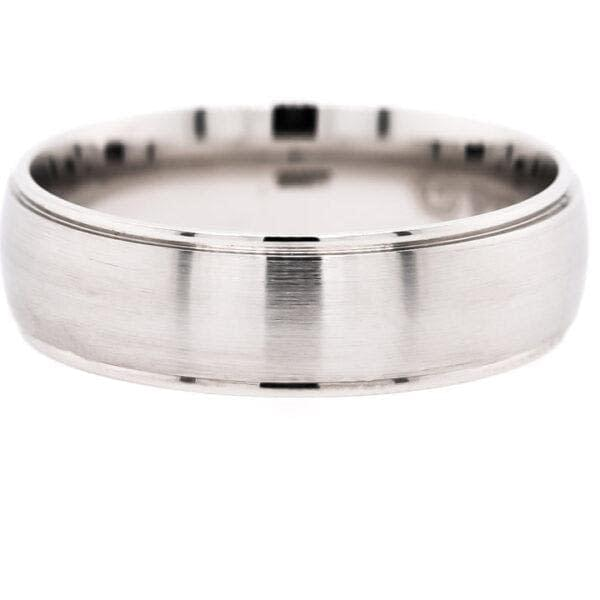 Classic Platinum Men's Wedding Band