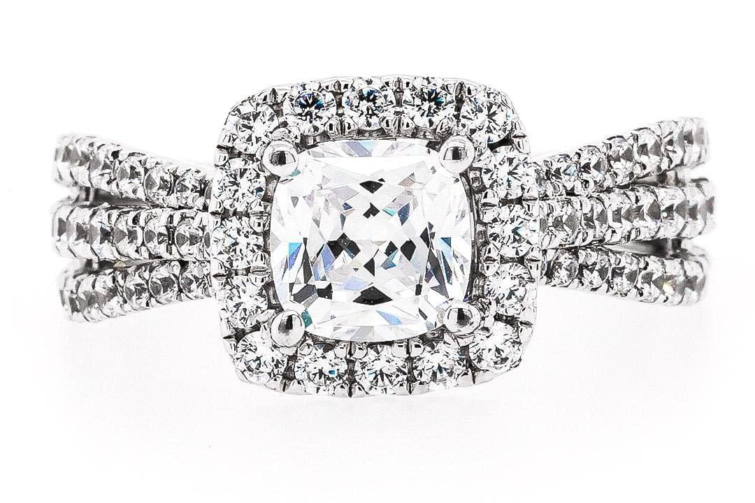 Multi Cushion Engagement Ring 2.20ct
