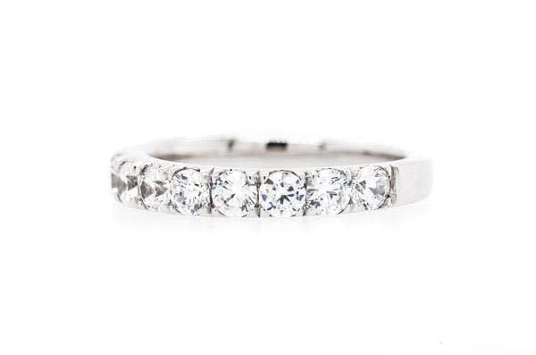 14K White Diamond Set Band 1.31ct