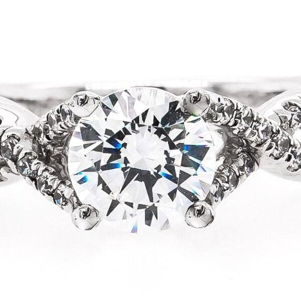 Twisted Engagement Ring with 1.19ct Round Diamond