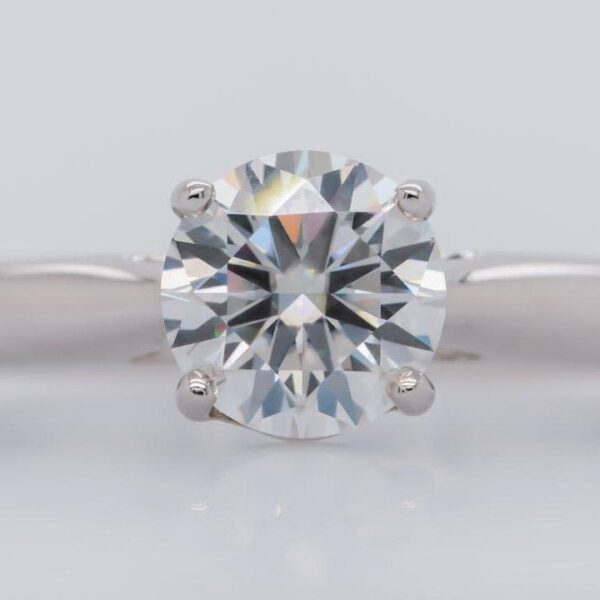 Classic Four Prong Solitaire Engagement Ring 1.35ct