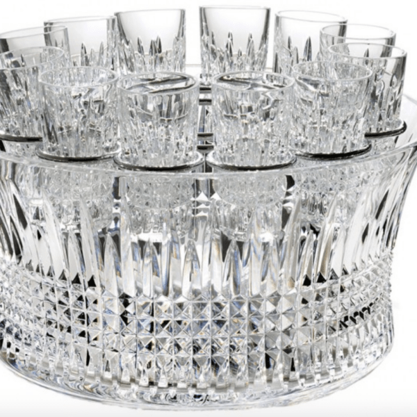 Lismore Diamond Bowl Vodka Chill Set 12in