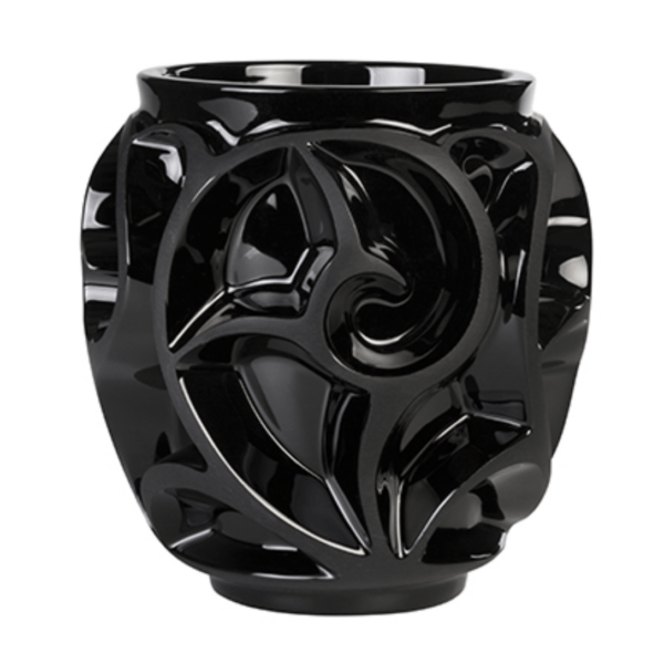 Small black vase created by Lalique