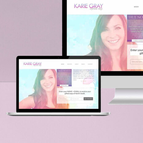 Karie Gray Angelic Reiki MAster Website Design and Development