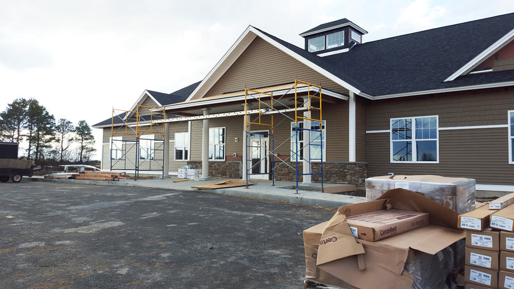 Siding and windows on our new building.