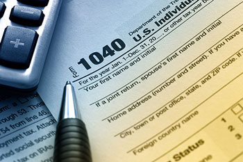 photo of 1040 tax form representing IRS Tax Attorney