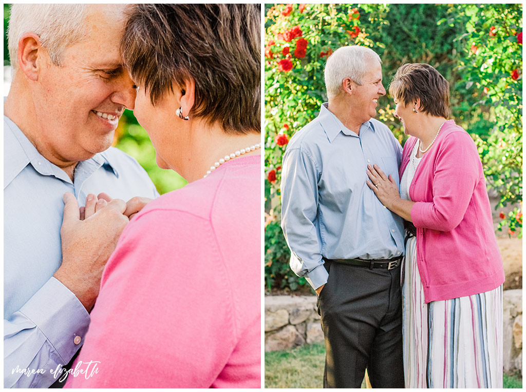 33rd anniversary picures taken of my parents around their home of 30 years. Anniversary pictures are a great way to continue telling your love story. | Arizona Anniversary Photographer | Maren Elizabeth Photography