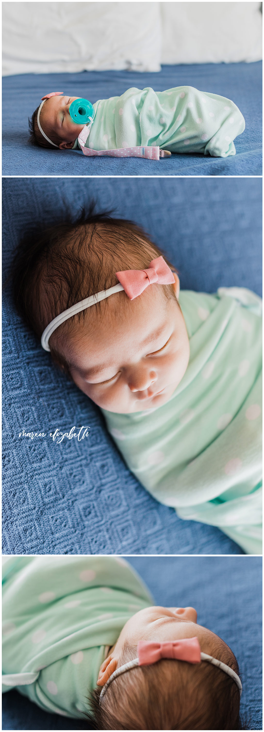 """I get asked """"What should our newborn wear in pictures?""""Here are a couple practical tips on how to dress your newborn for pictures plus my #1 tip you'd probably never think of.   Maren Elizabeth Photography   Arizona Newborn Photographer"""