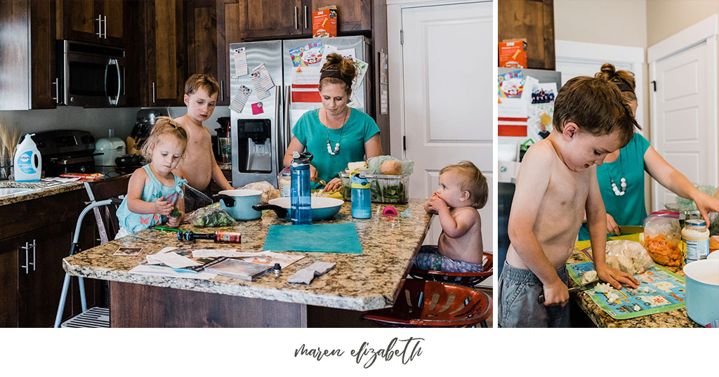 A day in the life family pictures session is exactly what it sounds like. No coordinated outfits, no poses, just REAL, RAW moments of your everyday beautiful. | Maren Elizabeth Photography | Arizona Family Photographer