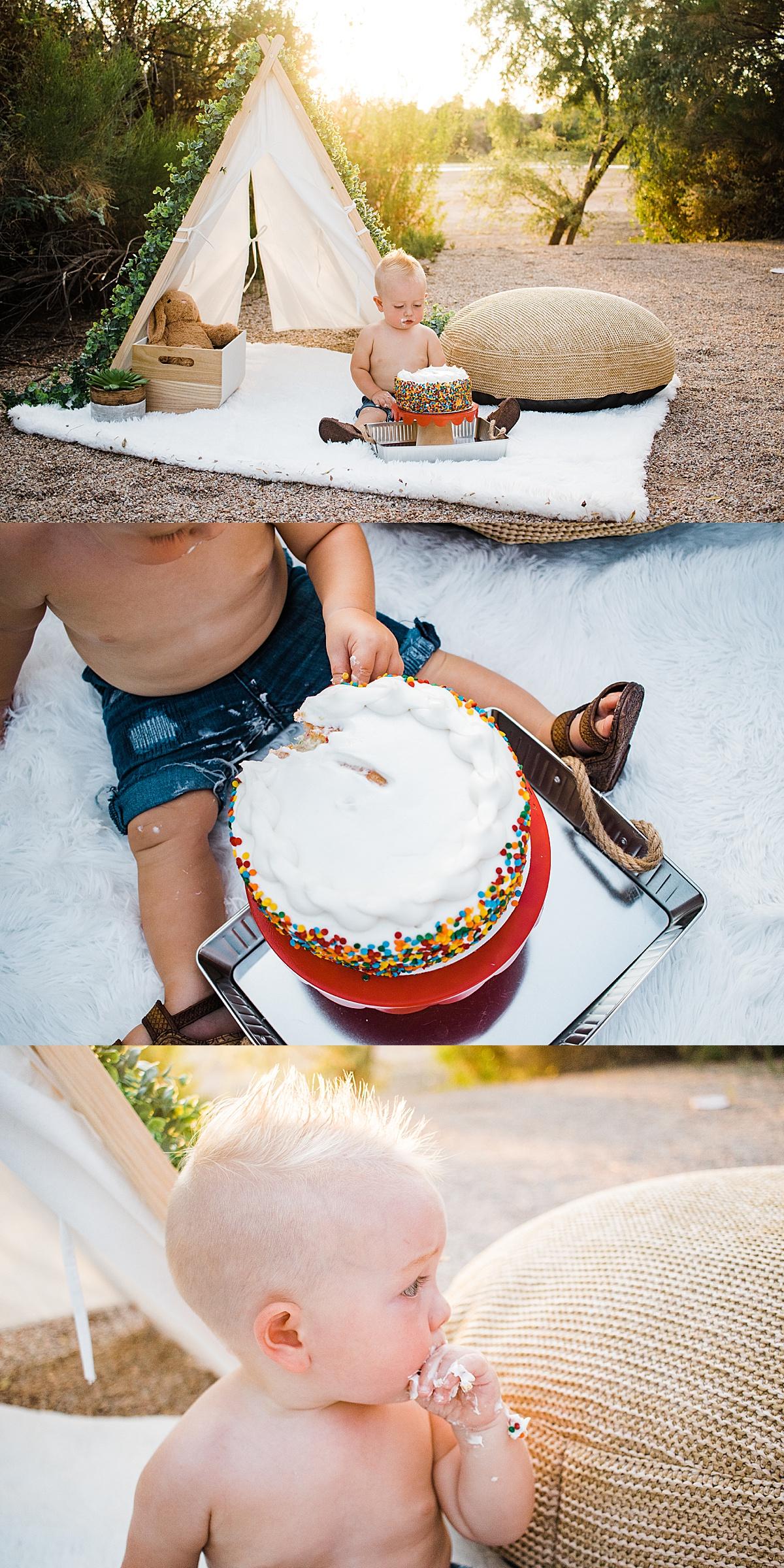 Cake Smash Photographer  Happy Birthday Little R