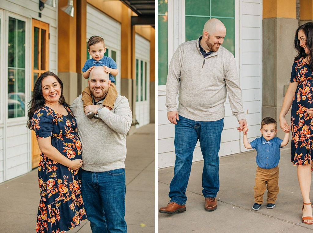 Downtown Gilbert Family Pictures