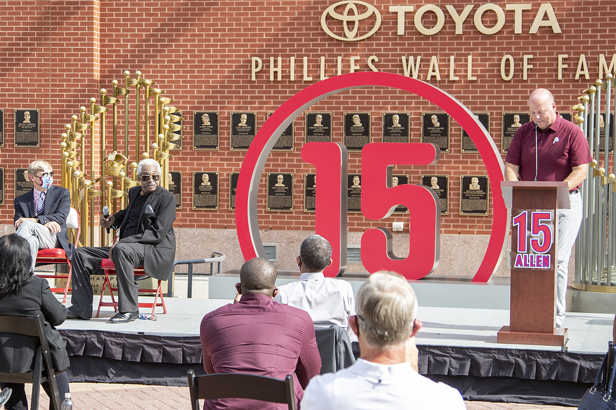Phillies Number 15 Retirement Ceremony