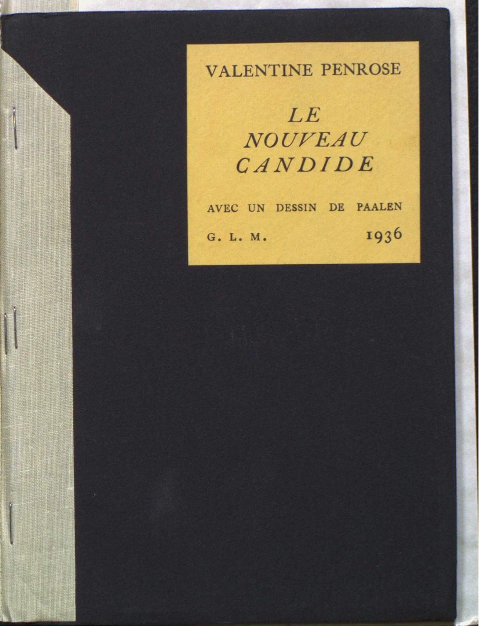 Valentine Penrose, <br /><em>LeNouveauCandide</em>, 1936
