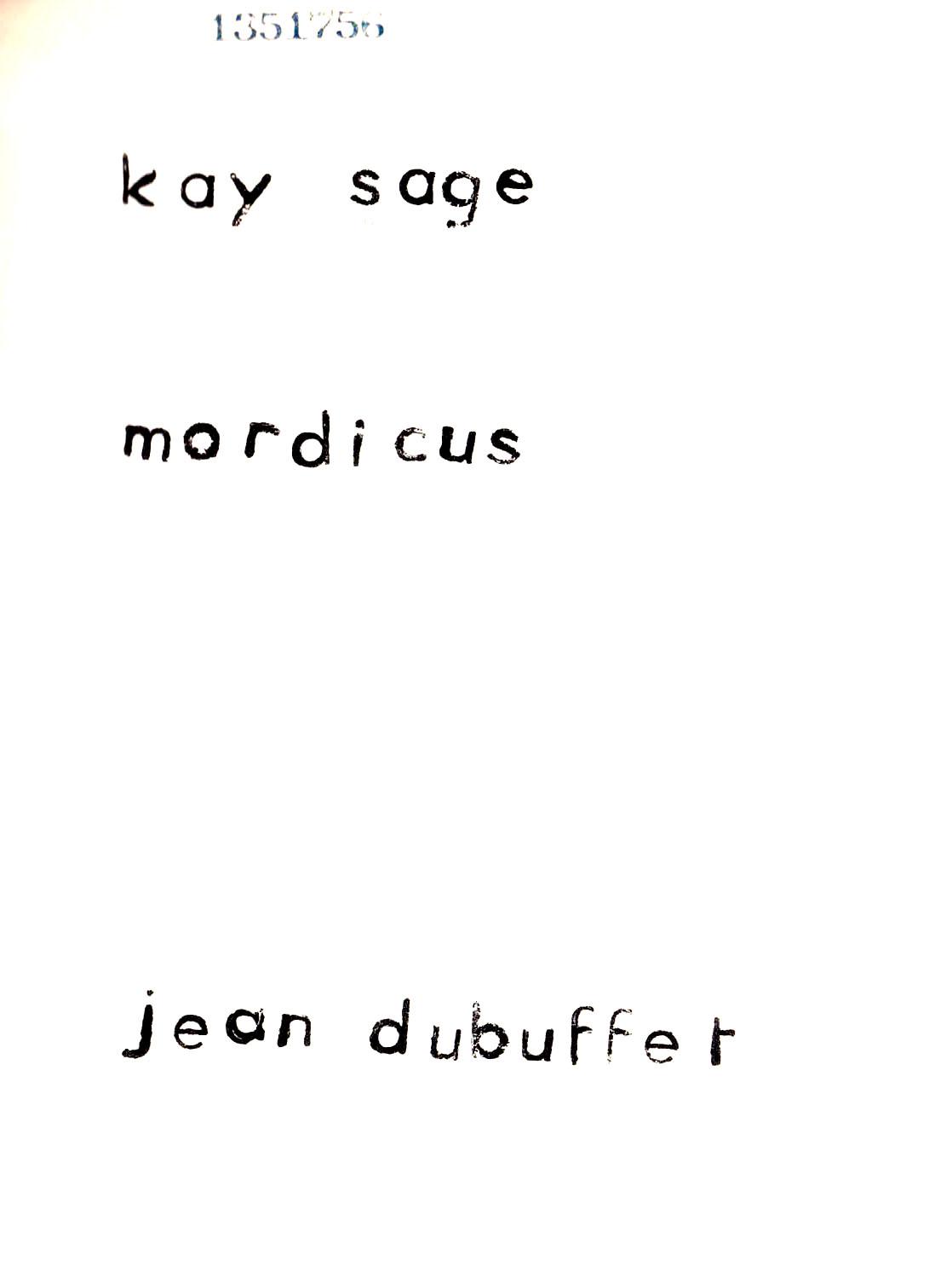 Kay Sage, <br /><em>Mordicus</em>, 1962