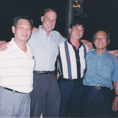 Police agent, Tom Silver, Colonel Taiwan Military and Tim Huang September 1999