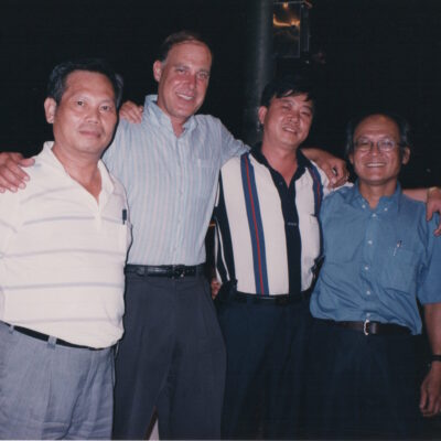 photos of Police agent, Tom Silver, Colonel Taiwan Military and Tim Huang September 1999 Scan 1