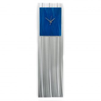 Blue Vibe Clock - our artisan Fine Metal Art