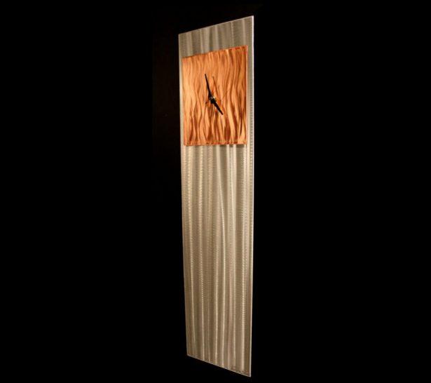 Copper Vibe Clock - our artisan Fine Metal Art