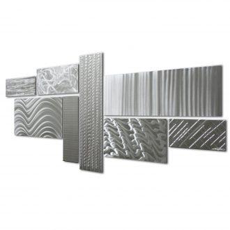 Crystallized Grid - our artisan Fine Metal Art