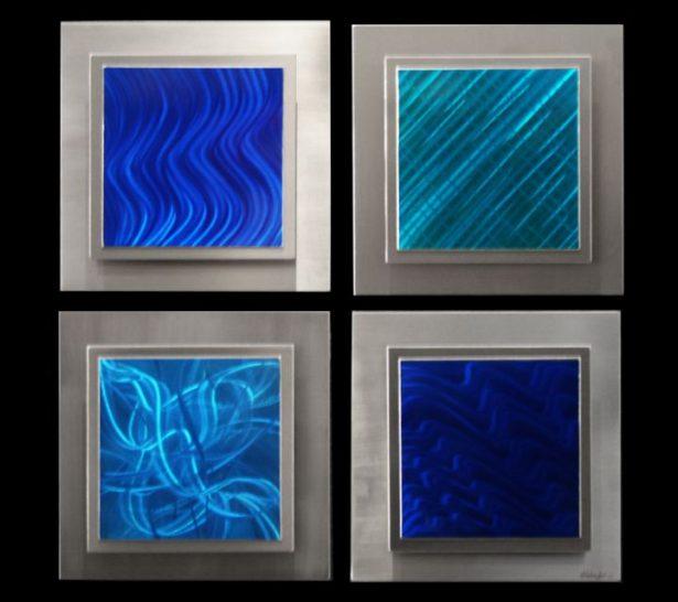 Noia (4 panel square) - our artisan Fine Metal Art