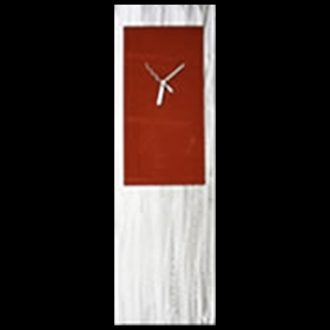 Red Metal Clock - our artisan Fine Metal Art