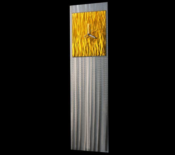 Yellow Vibe Clock - our artisan Fine Metal Art