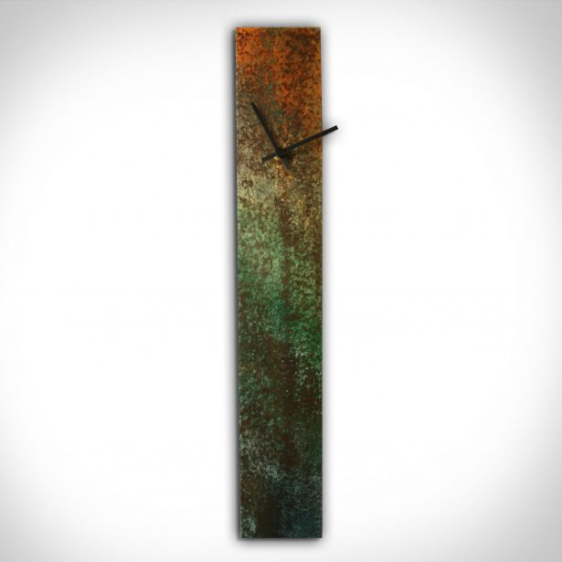 Corrosion Colored Clock - our artisan Fine Metal Art