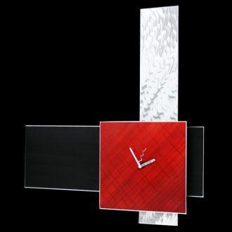 Vera Red Clock - our artisan Fine Metal Art