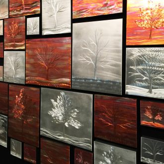 Warm Landscape Collage - our artisan Fine Metal Art