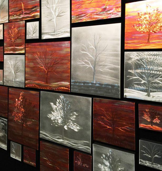 Warm Landscape Collage - our artisan Fine Metal Art